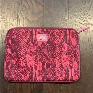 Juicy Couture hot pink snakeskin laptop bag